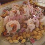 Ceviche langostinos