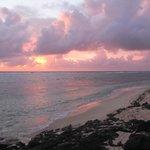 vue du levé du soleil depuis la plage