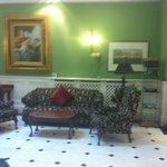 Seating in the foyer of the dromhall hotel.