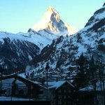 Matterhorn from our room, 6:30 am, March 16, 2013