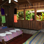 Rooms with private bath, fan and porch