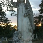 Old Oakwood Cemetery angel monument