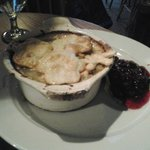 Chicken Pot Pie and Cranberry Sauce