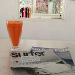 fresh juice and a great selection of magazines