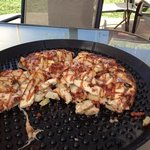 BBQ chicken pizza - yum!