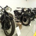 Motorcyles on display
