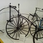 Early bicycles on display