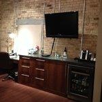 Desk/bar area