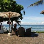 beachfront dining area