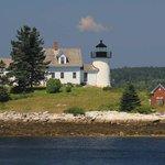 Just a short drive across the Deer Isle Bridge is Pumpkin Island Lighthouse.