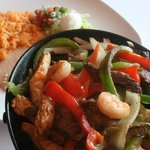 Steak, Chicken, & Shrimp Combo Fajitas