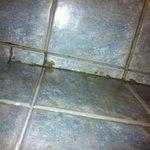 dreckiger Fußboden im Bad