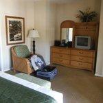 Master bedroom dresser and television