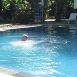 large pool, water temp beautiful