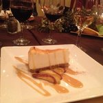 cheesecake and Riesling on the right.