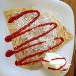 Kula strawberries and cream crepe