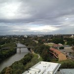 view of Parramatta river & city from 1st level