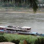 vue du Mékong lors du p'tit déj