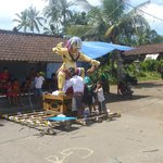 ogoh-ogoh in Wangsian - representations of the devil for Nyepi