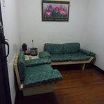Sofa near the entrance to the room