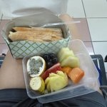 Carepaket weil wir das inbegriffene Frühstück verpasst haben :)