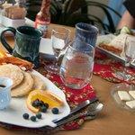 Just a glimpse of Donna's delicious breakfast spread....
