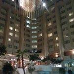 Atrium area in the centre of hotel