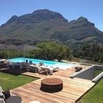 Vista desde la guesthouse sobre la montaña de Simon