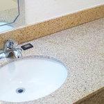 Granite topped vanity