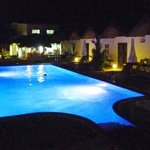 The pool at night. Great for chilling.