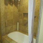 Bathtub (big thick towels!)