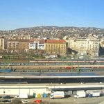 View from Room 809 (back of hotel) overlooking station - 2