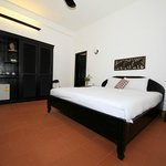 Our large and comfortable room with coffee and tea facillities.