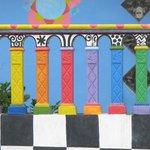 Multi-colored railing