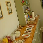 The breakfast spread at Swan Hill House B&B