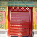 One of the doors in the Forbidden City