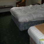Extremely tatty bed's, no attempt to cover the old fashioned base