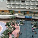 view of atrium from 10th floor balcony.