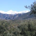 View of Profitas Ilias highest peak of the Taygetos