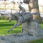 Garden statue of Red Rum