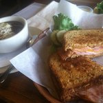 grilled ham and cheese with French onion soup special