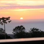 Our first sunset in Kona from our own private lanai.