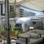 airstream trailer park on top of hotel