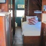 inside an airstream trailer (Goldilocks)