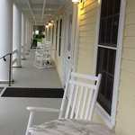 The Front Porch.  Perfect for a morning cup of coffee or a glass of wine right before dusk.
