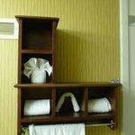 bathroom, note Arch washcloth