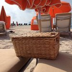 the beds by the ocean! and the welcome baskets