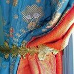 Rubelli fabrics in Chambre Bleue.