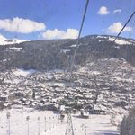 View into Morzine from Pleney lift