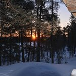 View from cabin....Sunrise @ -24!!